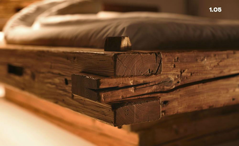 Rustikal-Bett 1.05